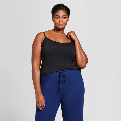 246b07655e0 Women s Plus Size Sleep Camisole - Ava   Viv™ Black 4X   Target