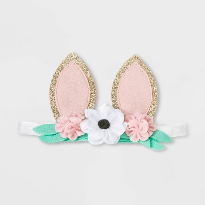Baby Girls' Floral Bunny Ears Headband - Cat & Jack™