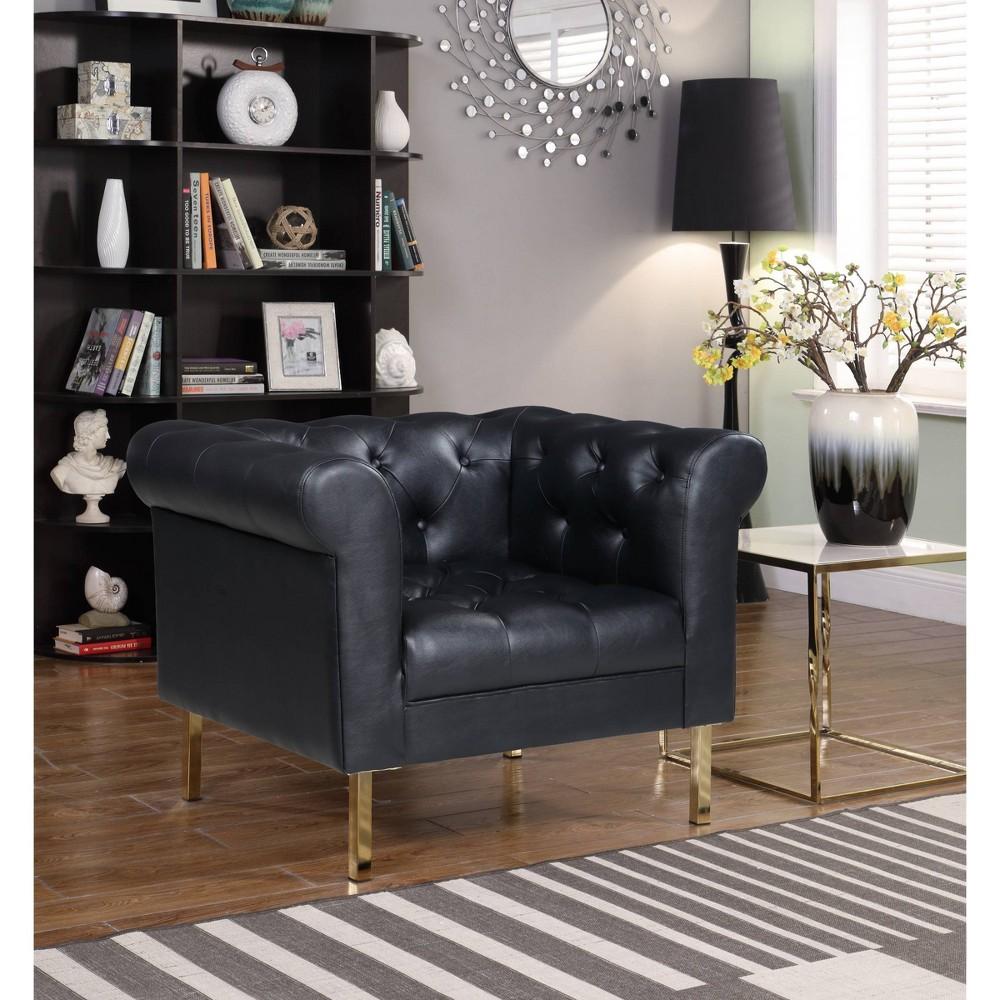 Julian Club Chair Black Chic Home Design
