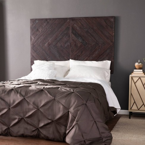 Queen/King Vensan Reclaimed Wall Mount Headboard Dark Stained Wood - Aiden Lane - image 1 of 4