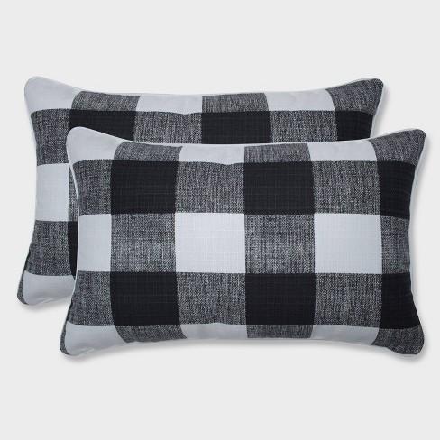 2pk Anderson Rectangular Throw Pillows Black - Pillow Perfect - image 1 of 1