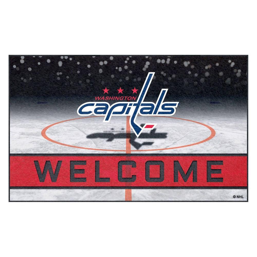 NHL Washington Capitals Crumb Rubber Door Mat 18