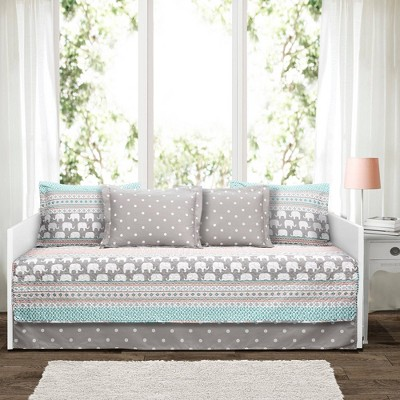 6pc Elephant Striped Daybed Cover Set - Lush Décor