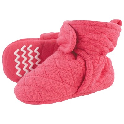 Hudson Baby Infant and Toddler Girl Quilted Booties, Dark Pink
