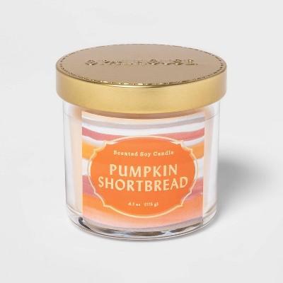 4.1oz Lidded Glass Jar Pumpkin Shortbread Candle - Opalhouse™