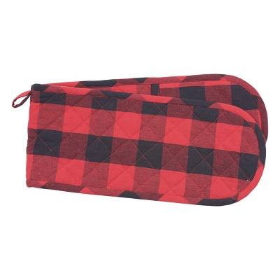 C&F Home Franklin Black/Red Double Oven Mitt