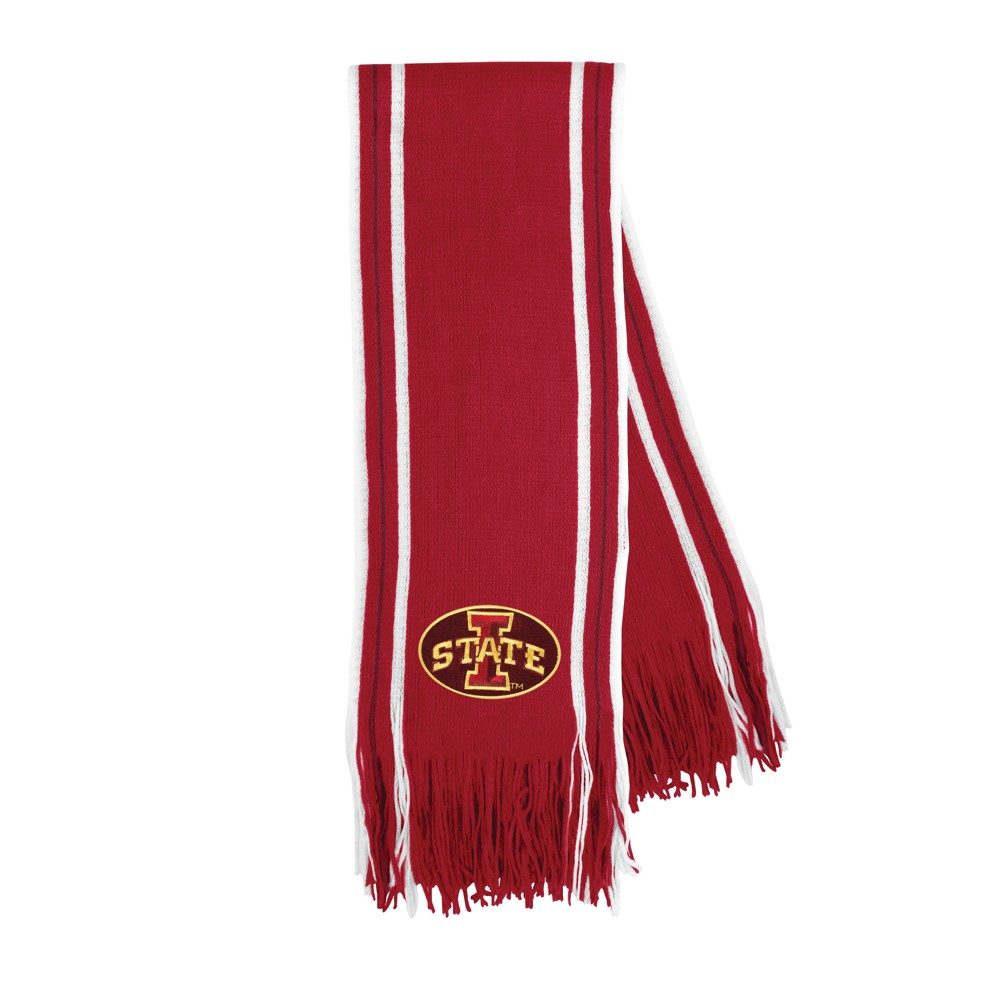 NCAA Iowa State Cyclones Little Earth Striped Fringe Scarf, Adult Unisex
