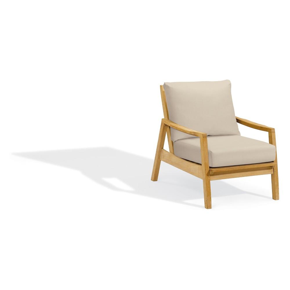Siena Club Chair with Polyester Cushion Camel - Oxford Garden
