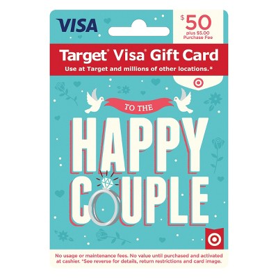 Visa Happy Couple Gift Card - $50 + $5 Fee