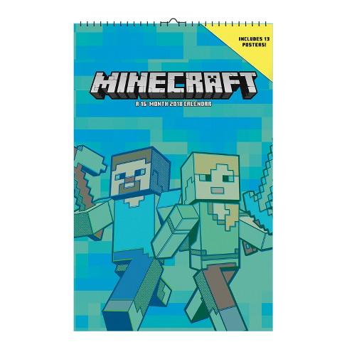 2018 Minecraft Oversized Wall Calendar - image 1 of 4