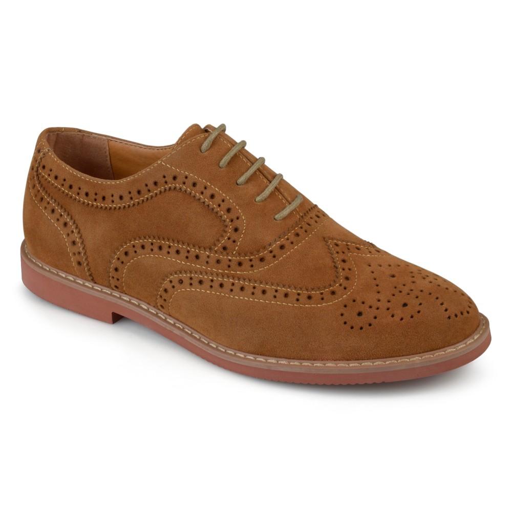 Men's Vance Co. Lantz Faux Suede Lace-up Oxford Dress Shoes - Tan 7