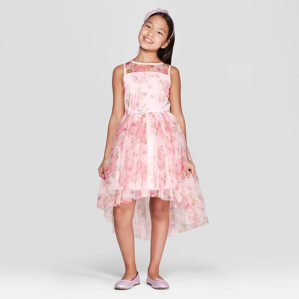 Plus Size Zenzi Girls' Floral Dress - Pink XL Plus