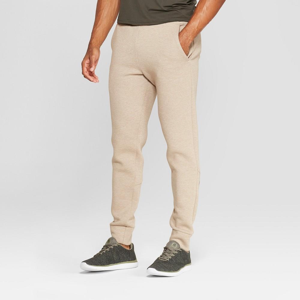 Men's Textured Fleece Jogger Pants - C9 Champion Khaki Heather Xxl