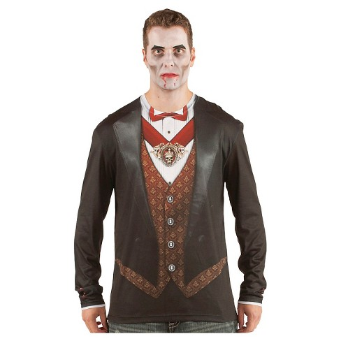 Men's Vampire Costume Shirt - image 1 of 1