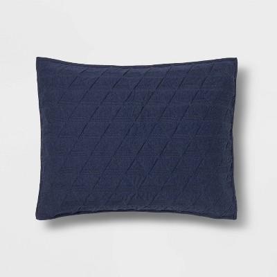 Blue Triangle Stitched Jersey Sham (Standard)- Project 62™ + Nate Berkus™