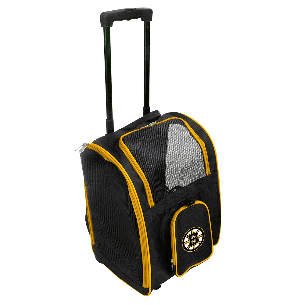 Boston Bruins Premium Wheeled Travel Dog and Cat Carrier