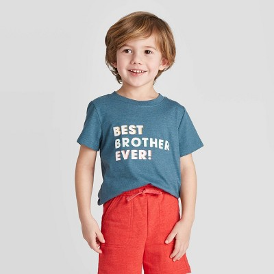 Toddler Boys' Short Sleeve Best Brother Ever Graphic T-Shirt - Cat & Jack™ Blue 2T