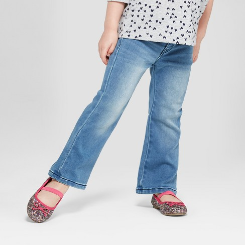 Toddler Girls' Jeans - Cat & Jack™ Medium Blue - image 1 of 3
