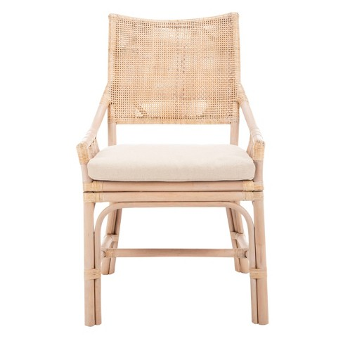 Dining Chair Wood/Brown/White - Safavieh - image 1 of 4