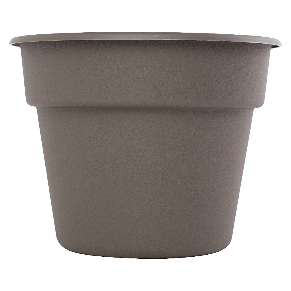 10 Dura Cotta Planter - Peppercorn Brown - Bloem