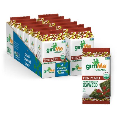 GimMe Teriyaki Roasted Seaweed Snacks - 0.35oz/12pk