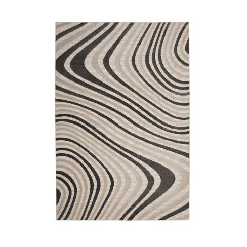 Abacasa Metro Ripple Charcoal - Ivory 5x8 Area Rug - Sam's International - image 1 of 3