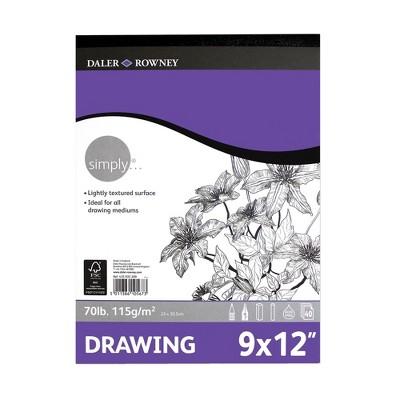 "9"" x 12"" 40 Sheet Simply Drawing Pad - Pacon"
