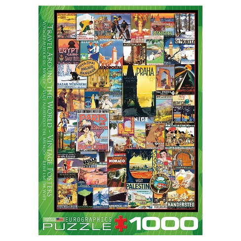 Vintage Collage Travel World 1000 pc Puzzle - image 1 of 1