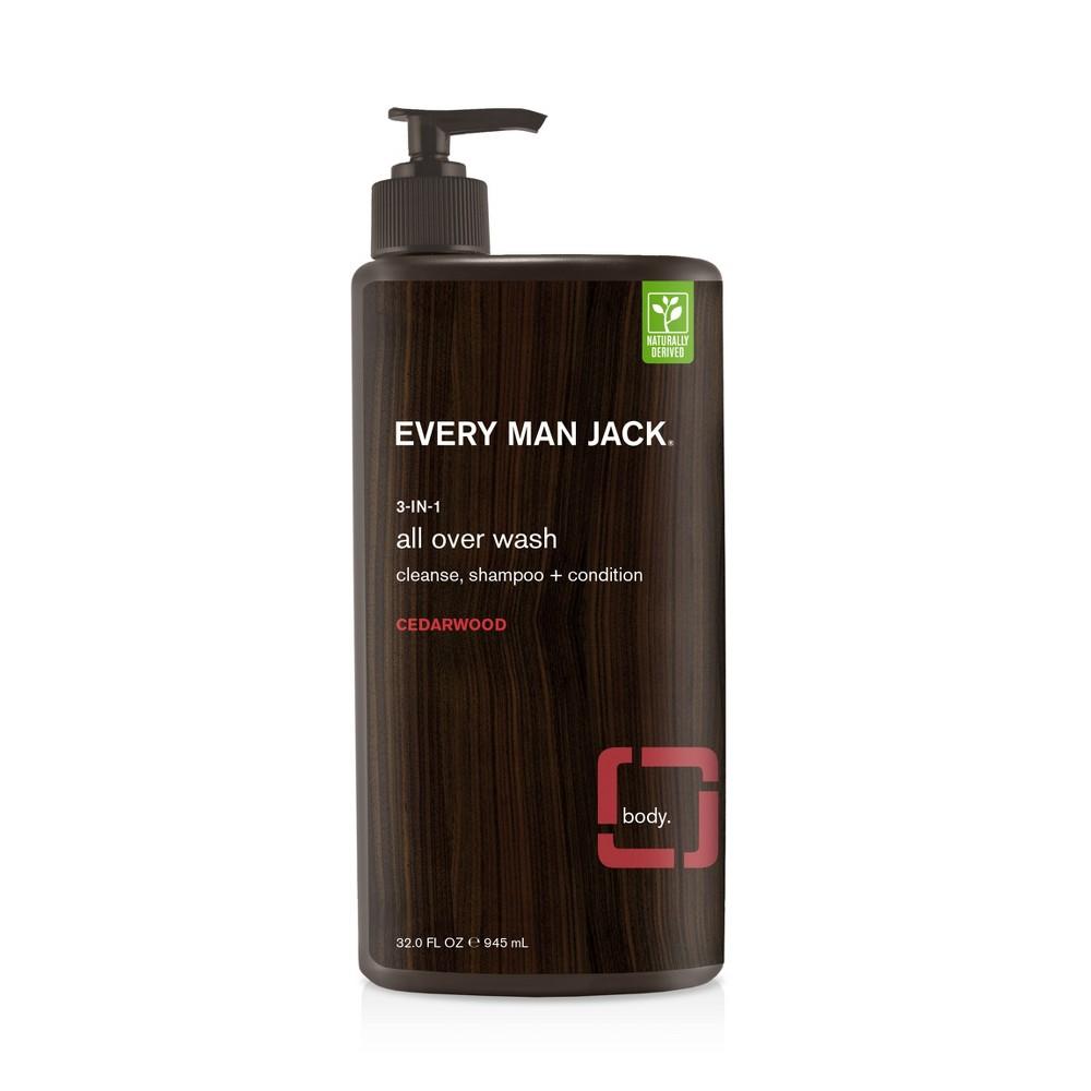 Every Man Jack Cedarwood 3-in-1 All Over Wash - 32 fl oz, Brown
