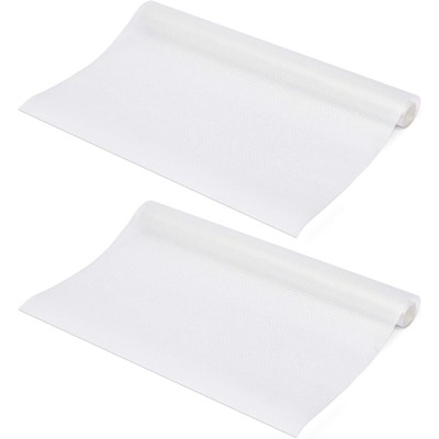 Okuna Outpost 2 Pack White Shelf Drawer Liners for Kitchen (17.7 x 59 in)