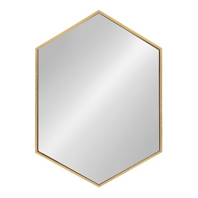 Kate and Laurel Mcneer Large Hexagon Metal Wall Mirror