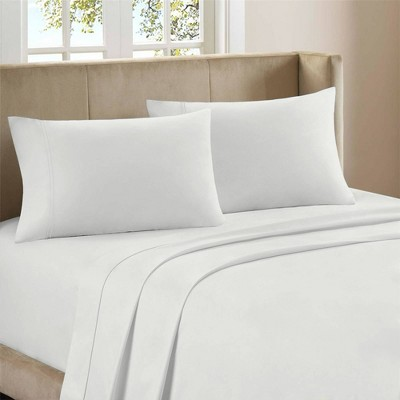 Queen 800 Thread Count Cotton Rich Sateen Sheet Set White - Aireolux