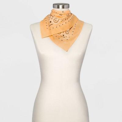 Women's Paisley Print Bandana - Wild Fable™ Orange
