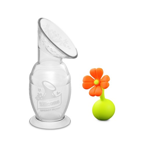 15ed93ce5b HaaKaa Breast Pump With Suction Bottom And Orange Stopper 5oz   Target