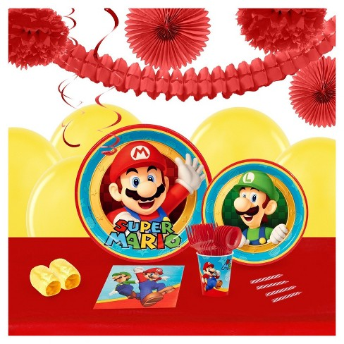 Super Mario Party 16 Guest Party Pk with Decoration Kit - image 1 of 1