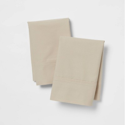 King 300 Thread Count Ultra Soft Pillowcase Set True Khaki - Threshold™