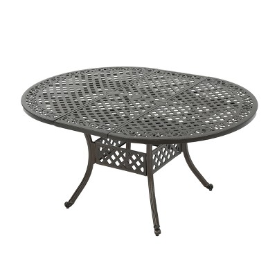 Stock Island Oval Aluminum Expandable Dining Table - Christopher Knight Home