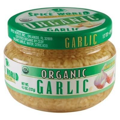 Spice World Organic Garlic - 4.5oz Package