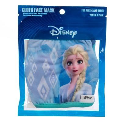 Disney Frozen Girls' Face Covering - 2pk