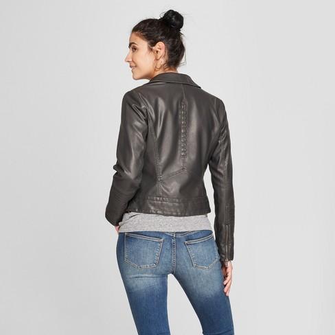 Women S Faux Leather Moto Jacket Universal Thread Target