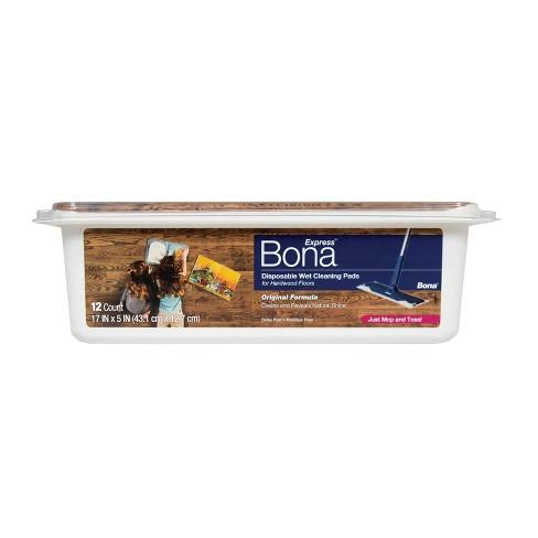 Bona Hardwood Floor Wet Cleaning Pads 12ct Target