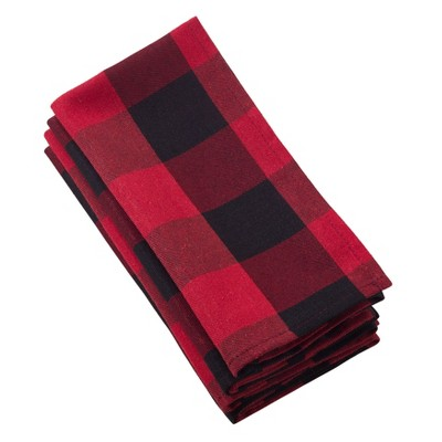 Buffalo Plaid Napkin - Red