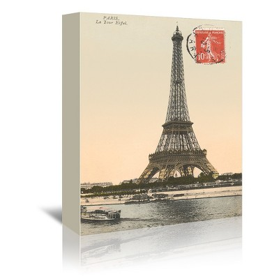 Americanflat Eiffel Tower by Found Image Press Wrapped Canvas