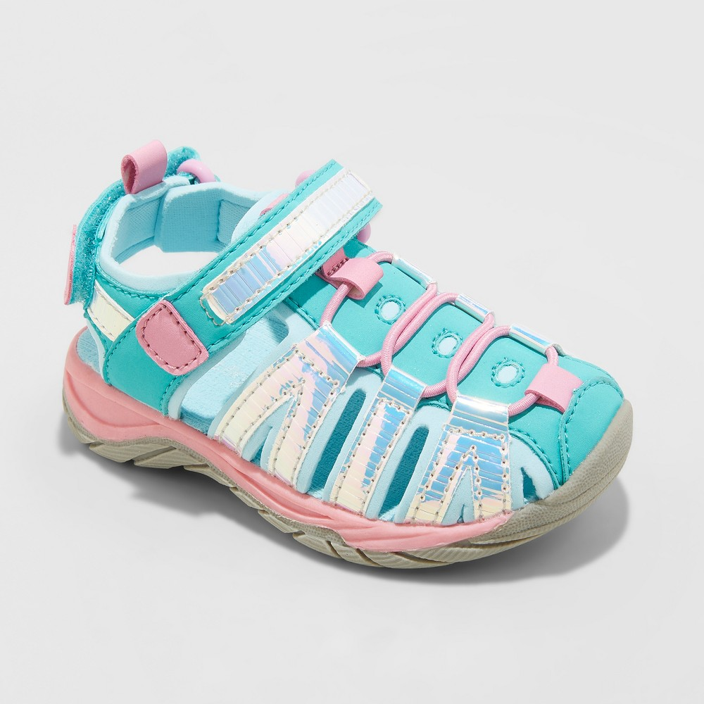 Toddler Girls' Rory Fisherman Shoes - Cat & Jack Mint Green 5