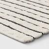 Striped Bath Rug White/Black - Opalhouse™ - image 2 of 4