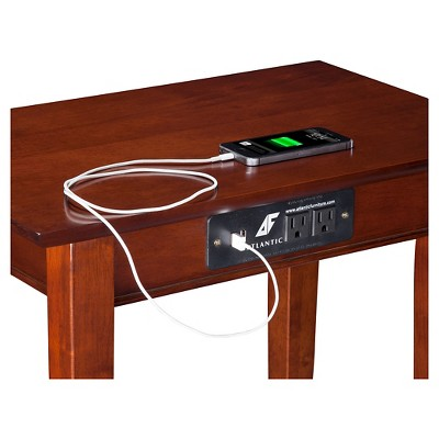 Shaker Chair Side Table With Charger   Atlantic Furniture