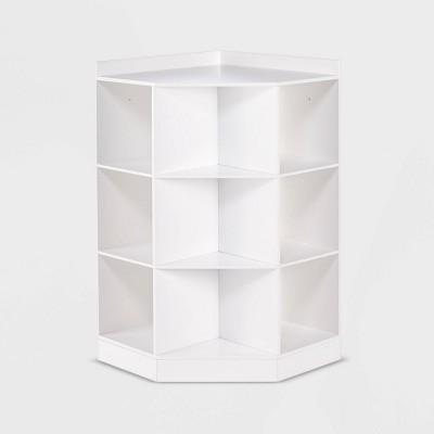 Kids' 6 Cubby with 3 Shelf Corner Cabinet White - RiverRidge