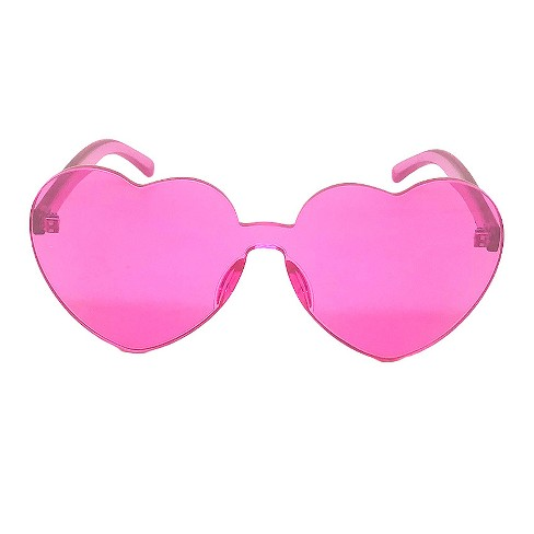8eff0ae543 Women s Heart Sunglasses - Wild Fable™ Pink   Target