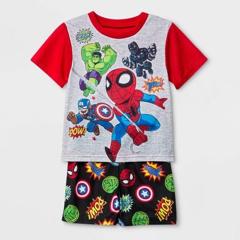Toddler Boys' Marvel 2pc Pajama Set - Red/Gray - image 1 of 1