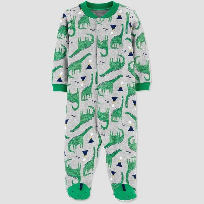 Baby Boys' Dino 1pc Pajama - Just One You® made by carter's Green 6M